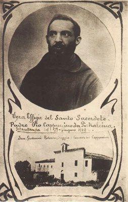 """""""Vera effigie del Santo Sacerdote Padre Pio Cappuccino da Pietralcina (sic)"""", del 27 giugno 1919"""