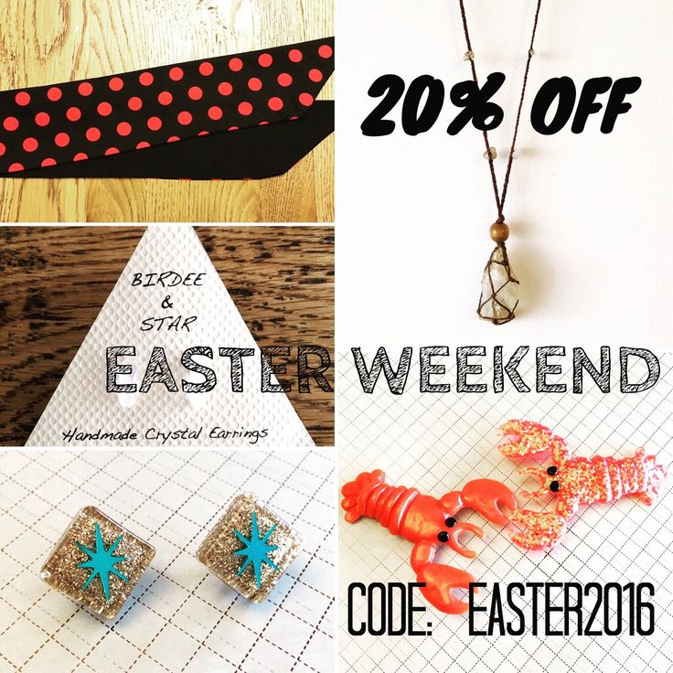 20% OFF STOREWIDE THIS EASTER LONG WEEKEND!  Use code:  EASTER2016