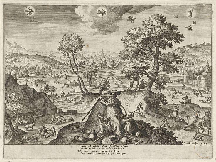 Zomer, Johann Sadeler (I), 1580