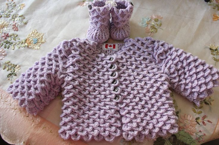 How To Crochet The Crocodile Stitch Cardigan - YouTube