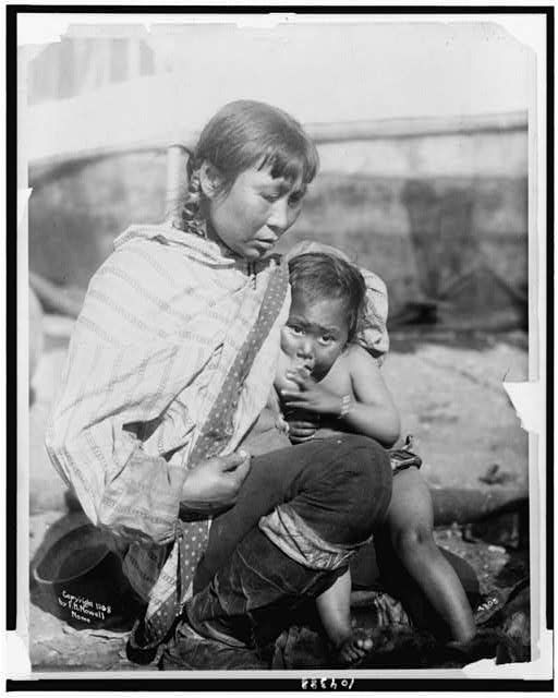 Inuit Woman Breast-feeding Baby, c1908, Library of Congress, LC-USZ62-104388