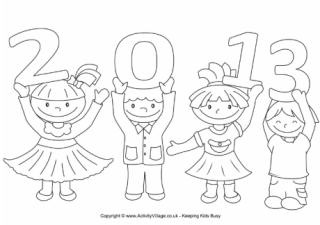 2013 kids coloring pages