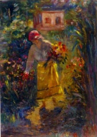 1395406672Samuel Mutzner, Femeie culegand flori.jpg (338×476)