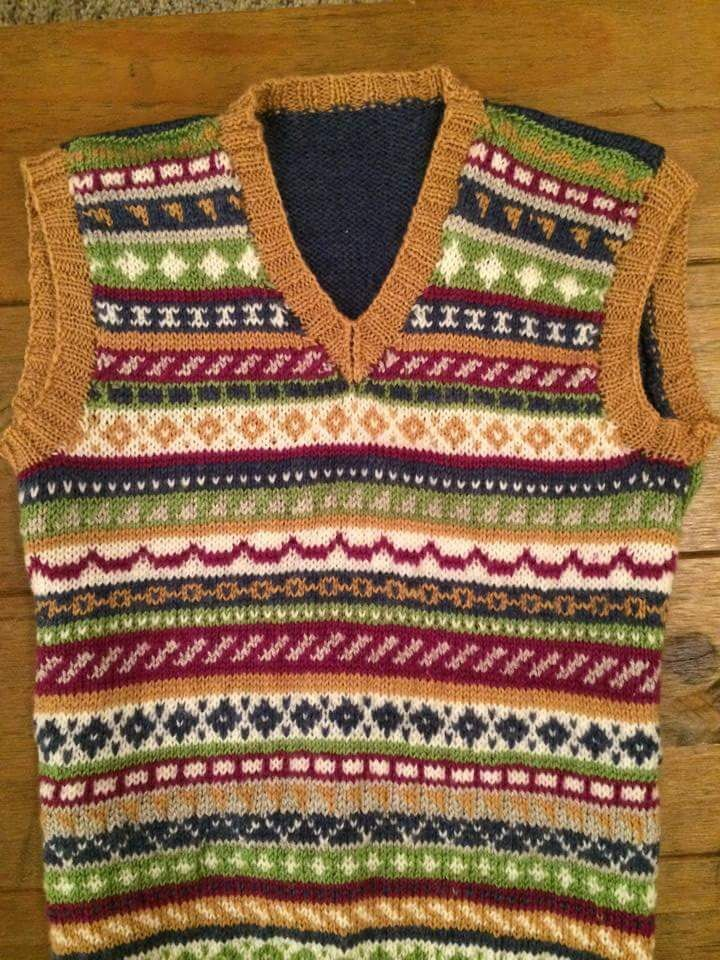 Fairisle using up leftover wool