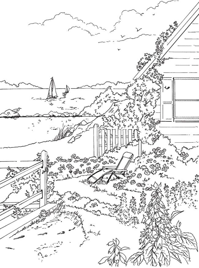 Welcome To Dover Publications Ch Seashore Scenes Coloring Pages Detailed Coloring Pages Creative Haven Coloring Books