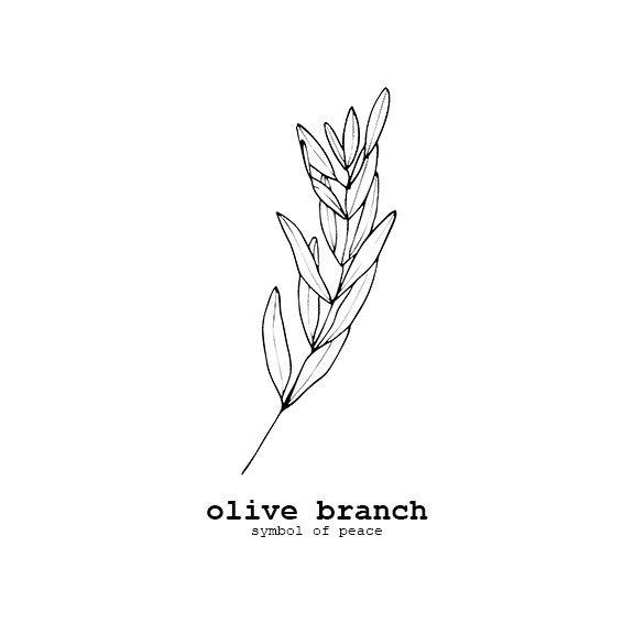 Olive Branch Flower Symbolism, Archival Print