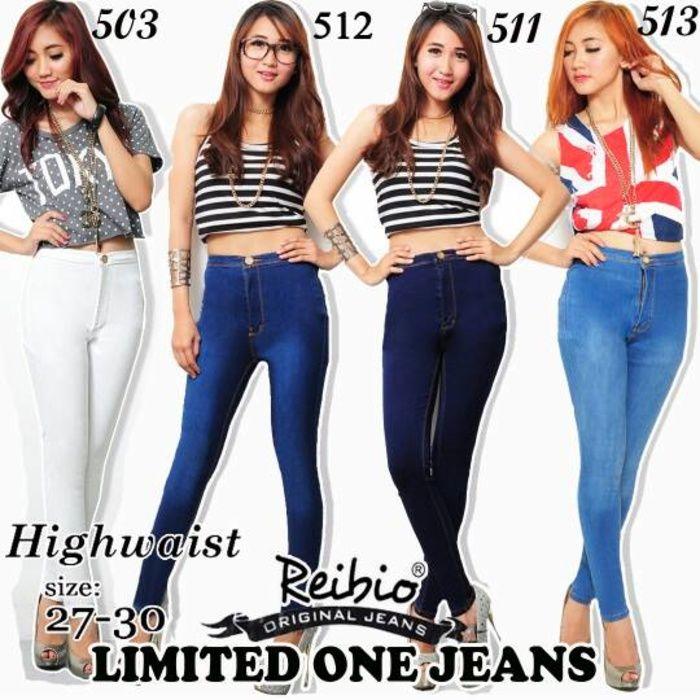 jeans wanita highwaist /celana Reibio