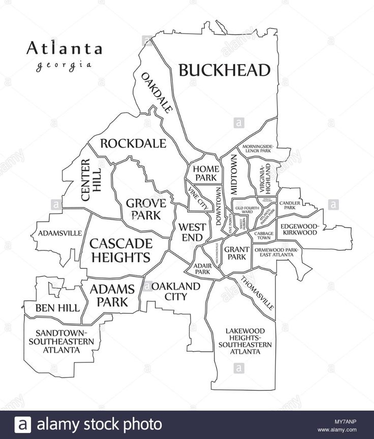 map of atlanta neighborhoods Google Search Atlanta