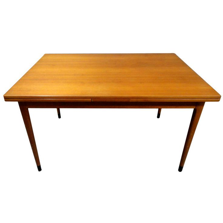 Dining table danish circa 1965 denmark 1970 39 s expandable for Dining room table 90 inch