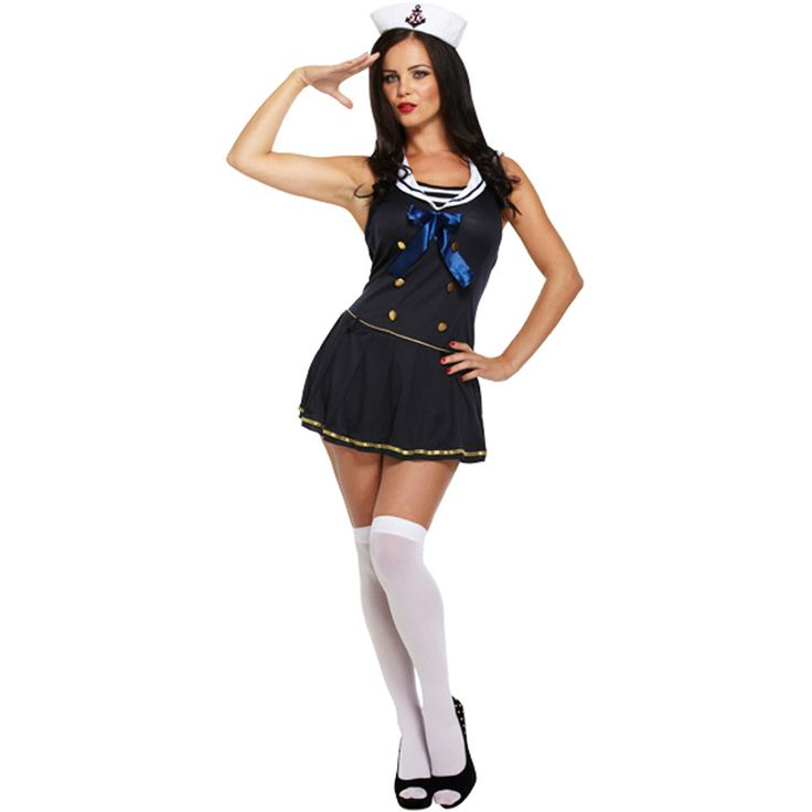 Sailor Fancy Dress Costume (Blue)