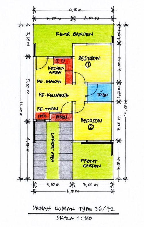 Layout Denah Desain Rumah Minimalis Type 36 » Gambar 614