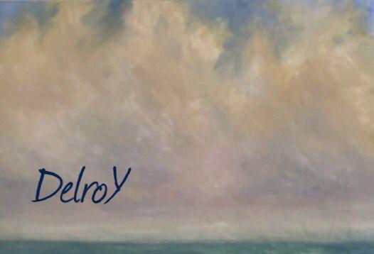 """DelroY óleo 2004 detalle de """"la mar verde""""."""