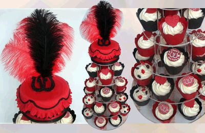 Hen Party Cup Cakes - The Sugar Rose Cake Company