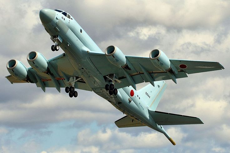 The Kawasaki P-1 manufactured by Kawasaki is a maritime patrol aircraft intended to replace the P-3C. The Kawasaki P-1 is equipped with new acoustics and phased array radar systems with enhanced capabilities for detecting and tracking submarines and small vessels. The Kawasaki P-1 forward fuselages and horizontal tails are of a robust, lightweight and cost-effective composite material made from carbon fibers.