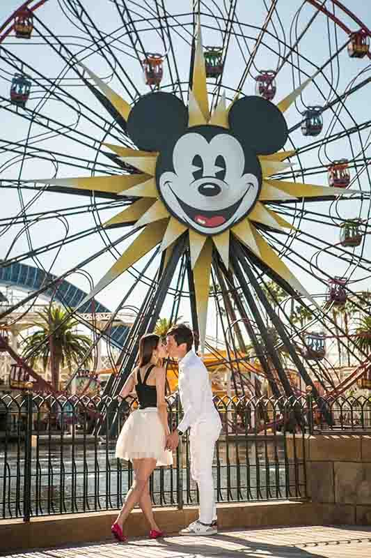 A picture perfect engagement session at Disney California Adventure Park