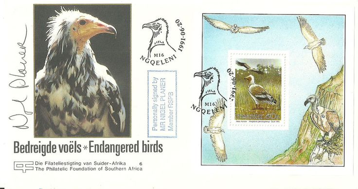 Endangered Birds FDC signed by Nigel Planer(Neil from 'TheYoung Ones')