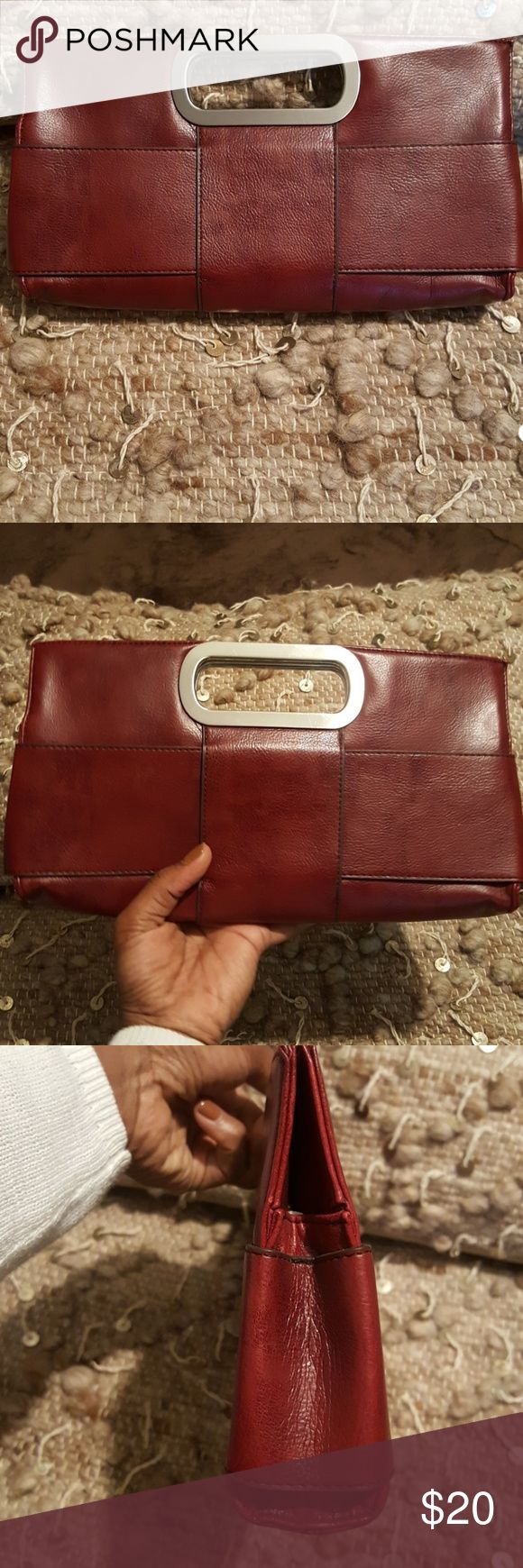The Limited Ruby Red Clutch EUC The color shown is true color. Very posh! Definitely adds a pop of color to any outfit! Trying to clear my closet. This clutch will not disappoint! Have questions, just ask! 😉 The Limited Bags