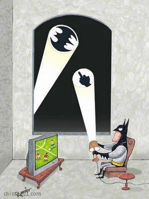 Humor Grafico - Batman Pasa de Ir al Rescate - Imagenes graciosas gratis