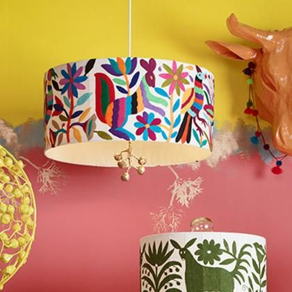 Mexican Inspired Otomi Lampshades