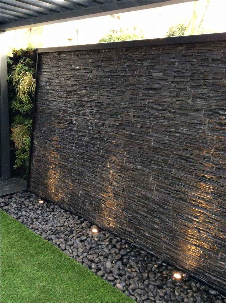 25 best ideas about wall waterfall on pinterest outdoor wall fountains modern water feature. Black Bedroom Furniture Sets. Home Design Ideas