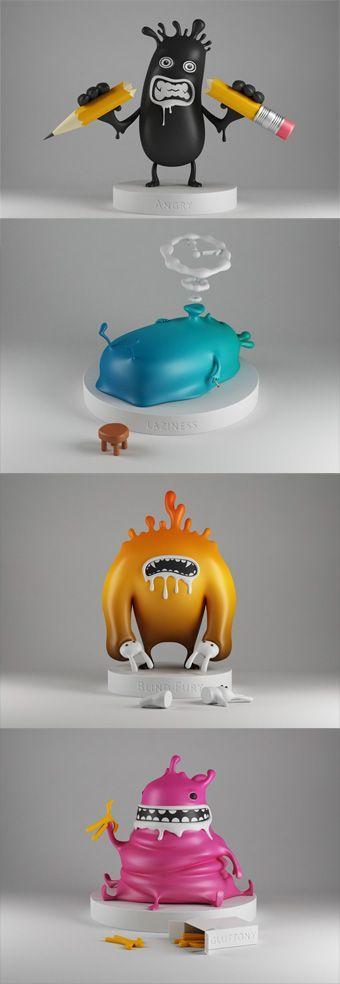 """Art toys from Estonie : the """"Sin Toys"""" : Son un concepto muy explotado por el mercado de los Kidults, juguetes coleccionables hechos para adultos."""