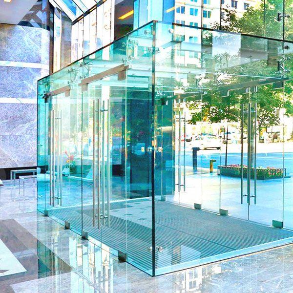 Structural Glass Vestibule Window, Glass Vestibule Entry