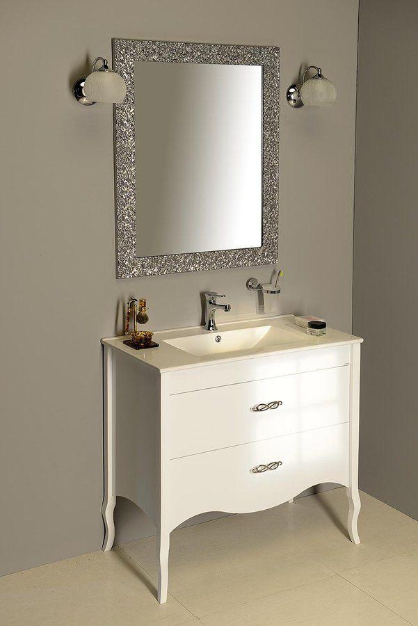 SALMA umyvadlová skříňka 89,5x85x45cm, bílá, SAPHO E-shop