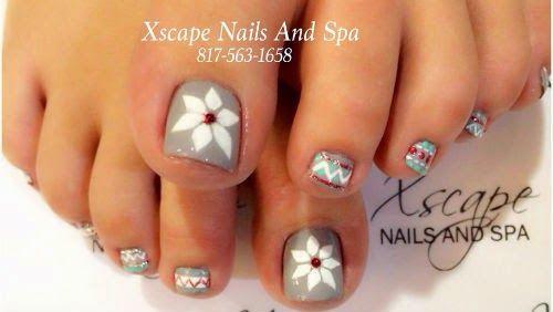 nail design toes, disenos unas pies