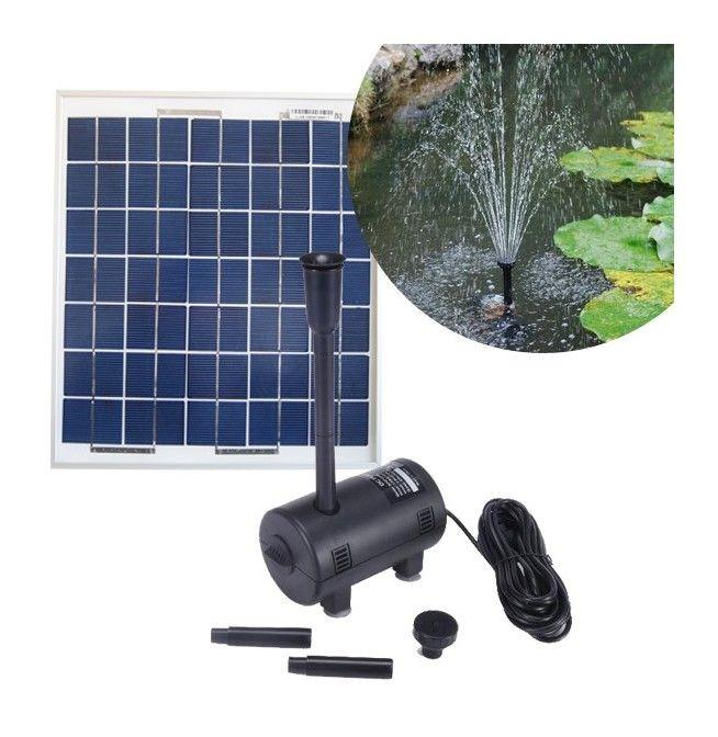 Kit pompe solaire 470L/h avec panneau solaire 7W 12V polycristallin - KIT_PSP_BLP750 - Jardin piscine