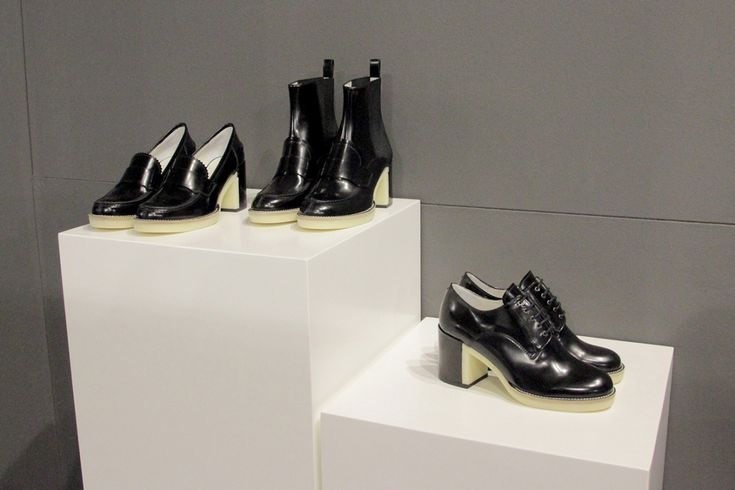 """Lario 1898 has presented the autumn/ winter collection 2016-2017 """"Elementary Remix"""", showing modernized classic models, with clean lines, for a dynamic and contemporary woman. White rubber is present on the soles of brogues, pumps, boots and loafers. As for materials, deer print calf skin, cavallino, stretch suede and soft leather brush-off are recommended  #whitemilano #whiteshow"""