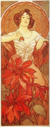 "Alphonse Mucha: ""Ruby"""