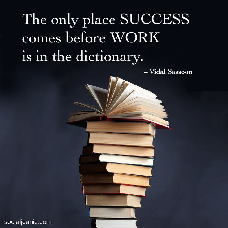 Only place where success comes before work.... inspirational business quote