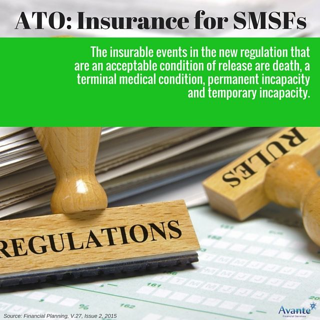 ATO's view on insurance for SMSF's. Part 2:   #Regulations #SMSF #Avantefs   www.avantefinancial.com.au