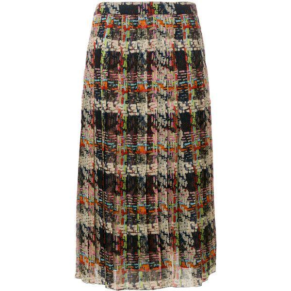 Blumarine plaid pleated skirt (82.240 RUB) ❤ liked on Polyvore featuring skirts, plaid skirt, multi colored skirt, multi color skirt, multicolor skirt and plaid pleated skirts