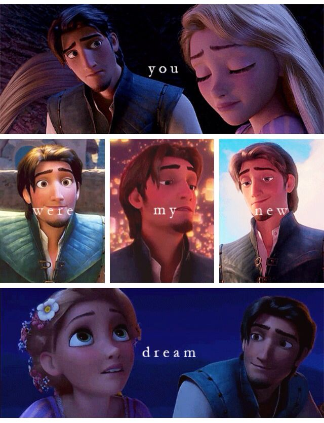 "okay notice the ""were"" part of this sentence. The word ""were"" is past tense. So he knew he was going to die. But then he survived because of Rapunzel and so he got to fulfill his dream. I wonder how he actually felt when she walked down the aisle because this something he wasn't supposed to experience but it happened. I guess it made him appreciate the moment a whole lot more."