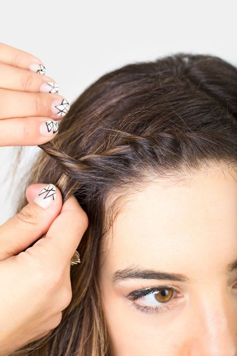 Can't deal with your bangs? Try a mini French twist (here, step 5 of creating it). See how to do it plus four other styles that will get your bangs out of your face chicly.