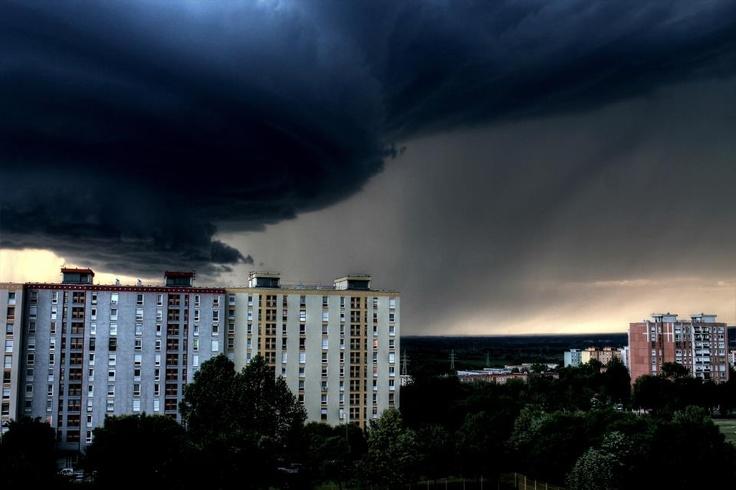 Storm, Hungary, Pécs