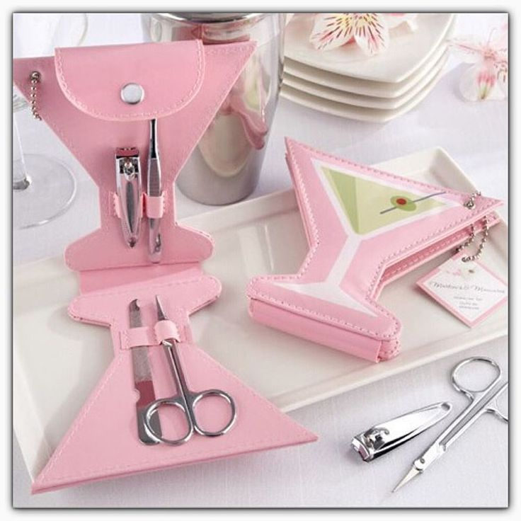 Pink Manicure Set Great For Bridal Shower Favours Party Wedding Gift Travel
