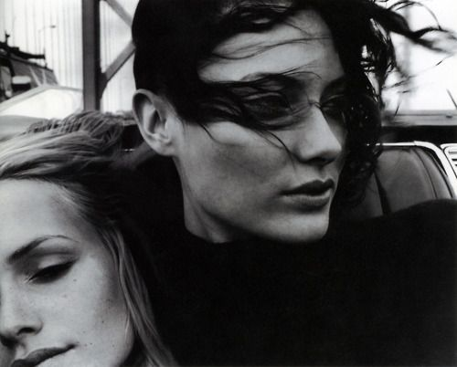 Amber Valletta and Shalom Harlow by Craig McDean for W 1995