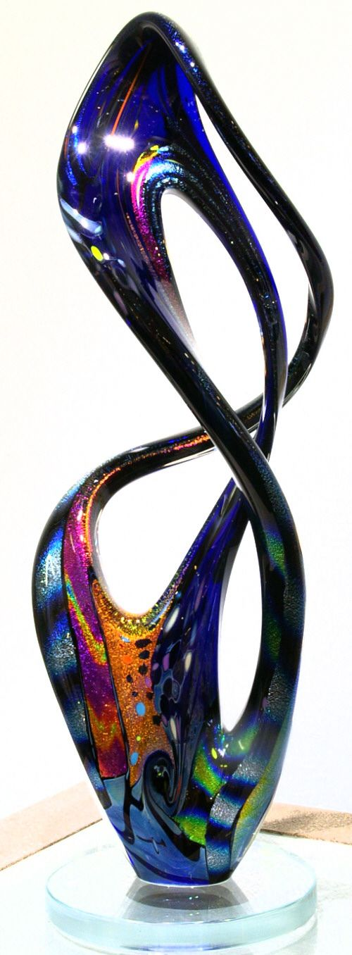 Dichroic Glass Art sculpture from Kela's...a glass gallery on Kauaii