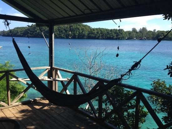 The view from Mama Mia's waterside bungalow Pulau Weh
