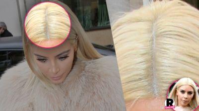 Kim Kardashian blonde hair is a fake  https://fashionphil.wordpress.com/2015/03/21/parul-blond-platinat-al-lui-kim-kardashian-este-o-peruca-afla-cum-si-a-pacalit-fanii/