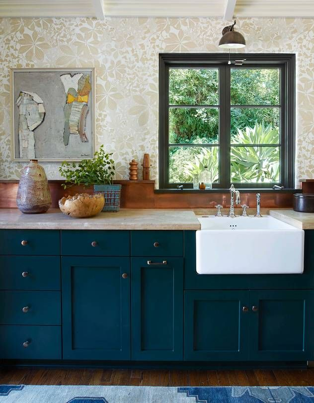 the kitchen wallpaper by marthe armitage the ceramics by kevin willis and the - Bathroom And Kitchen Designs