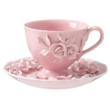 Beautiful Pink Tea Cup & Saucer