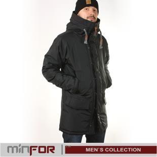 Мужская длинная зимняя куртка