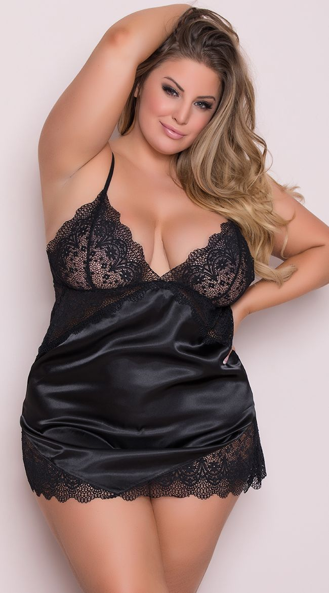 723e2aa6f8e7c Yandy Plus Size Luxurious Lounge Babydoll