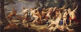Diana and her Nymphs Surprised by the Fauns - Peter Paul Rubens