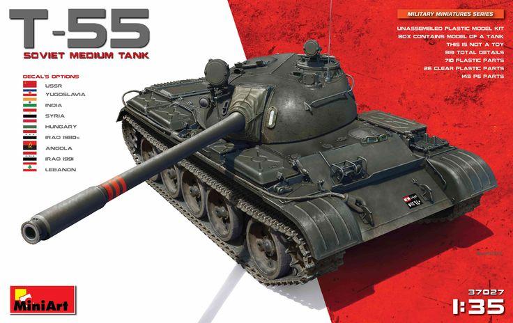 New #MiniArt's Kit In Progress:  37027 T-55 SOVIET MEDIUM TANK http://miniart-models.com/37027/