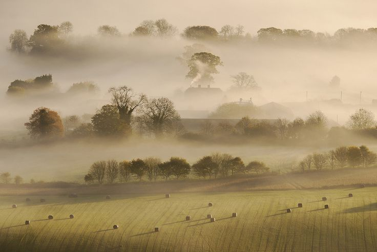 Farmyard Mist, Pewsey Vale | por George-Edwards