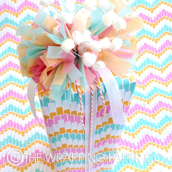 11 best easter gift wrapping images on pinterest easter gift wrap wrapco 100 recycled eco pinata gift wrap topped with hand made pastel tissue decoration negle Image collections